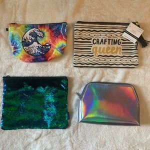 3/$30❗️Set of 4 Pouches for Makeup or Pencils